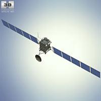 3D rosetta space probe