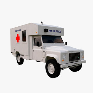 3D land rover defender white model