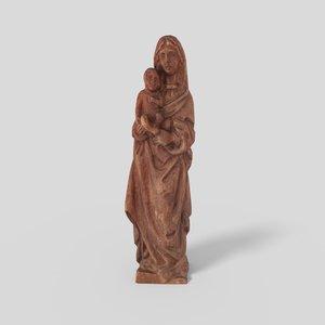 3D madonna statue pbr model