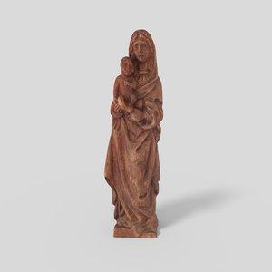 3D model madonna statue pbr