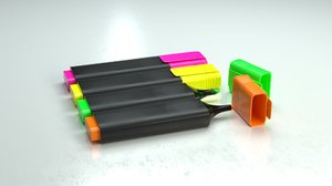 3D basic highlighter textmarker -