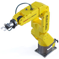 3D model fanuc robot arm