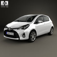 3D toyota yaris 2015 model