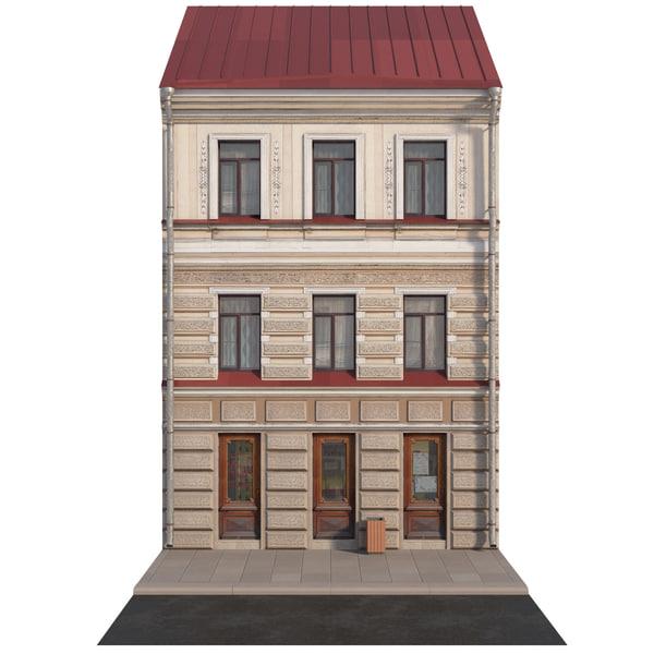 3D facade historic building model