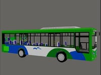 Bus BRT Low poly
