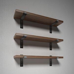 shelf shelves designed 3D