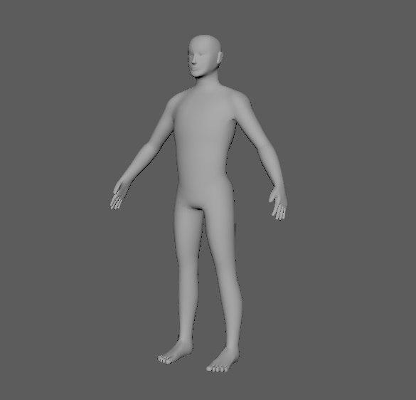 human male model