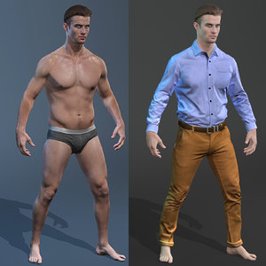 male body clothing model