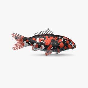 koi fish 3D model