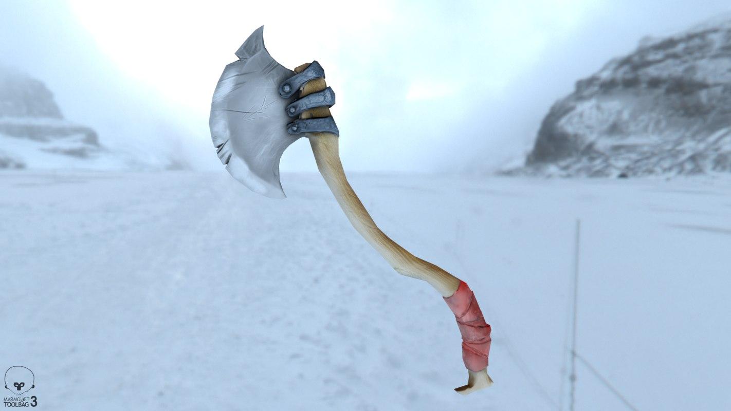 handpainted weapon asset 3D model