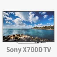 3D x700d tv sony model