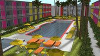 3D hotel resort