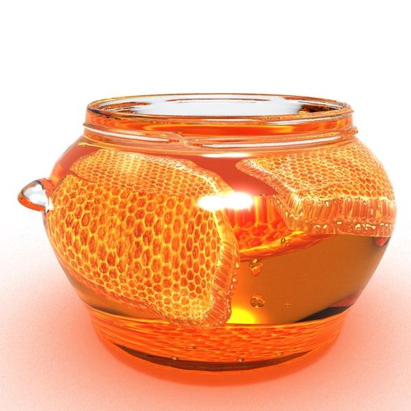 3D honeycomb honey model