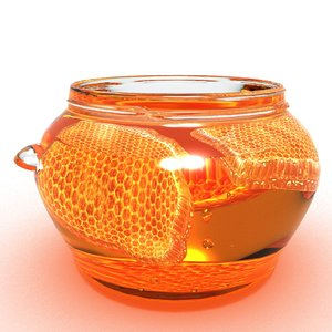 3D honeycomb honey model