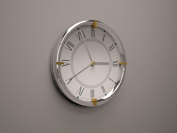 3D model luxury clock