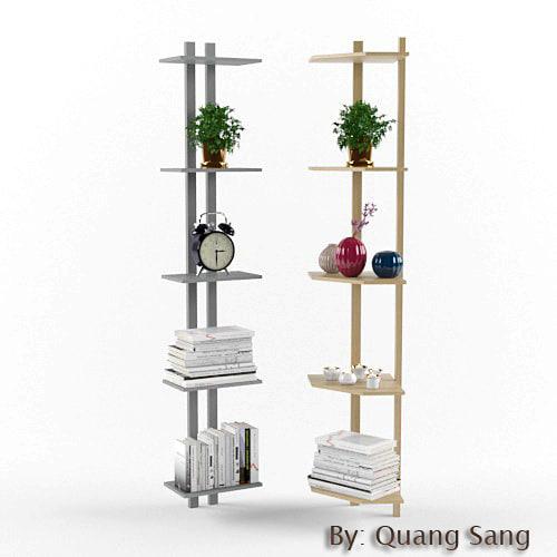 living room shelf 3D