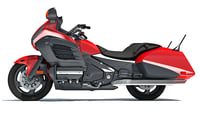 motorcycle red 3D