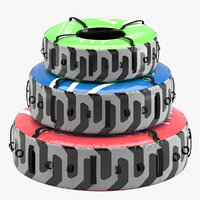 gym equipment tire 3D