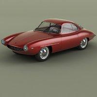 3D 1957 alfa romeo giulietta model