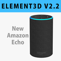 E3D - New Amazon Echo 2018 Charcoal Fabric 3D model