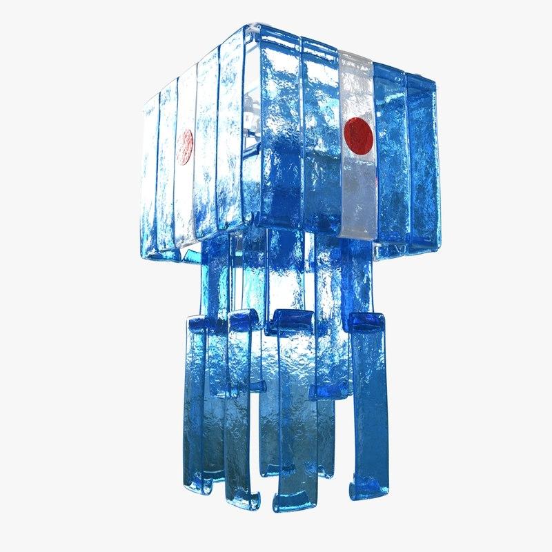 chandelier laguna murano glass 3D model