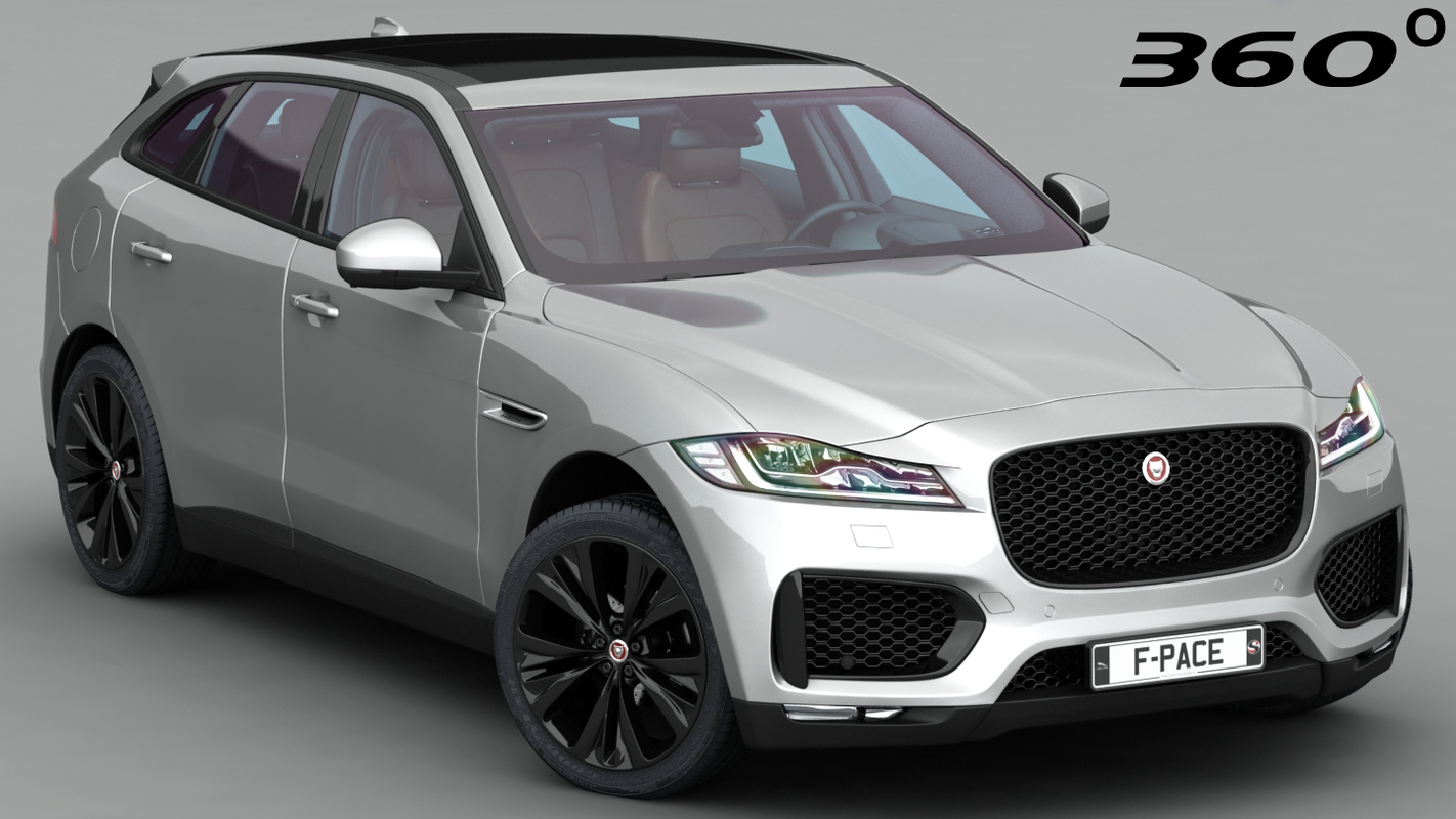 3D f-pace 2018 interior