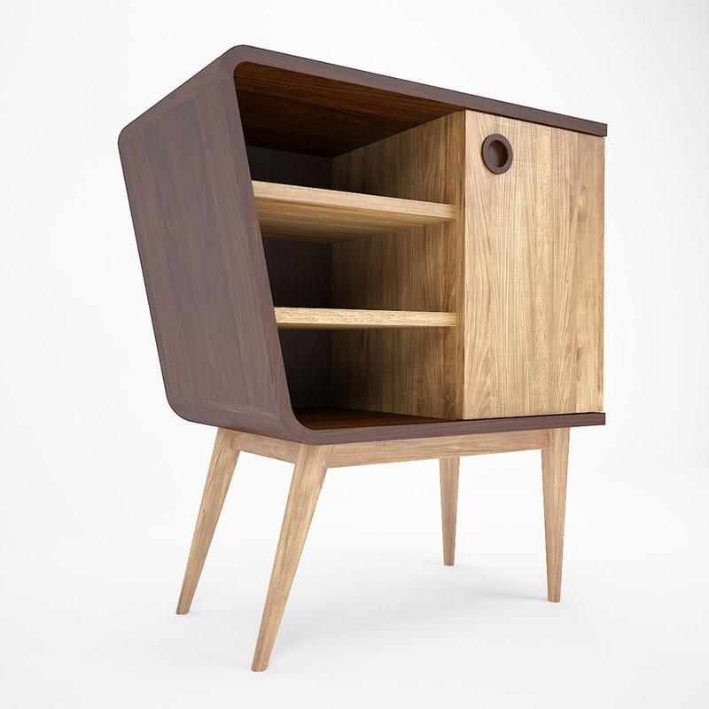 retro cabinet 3D model