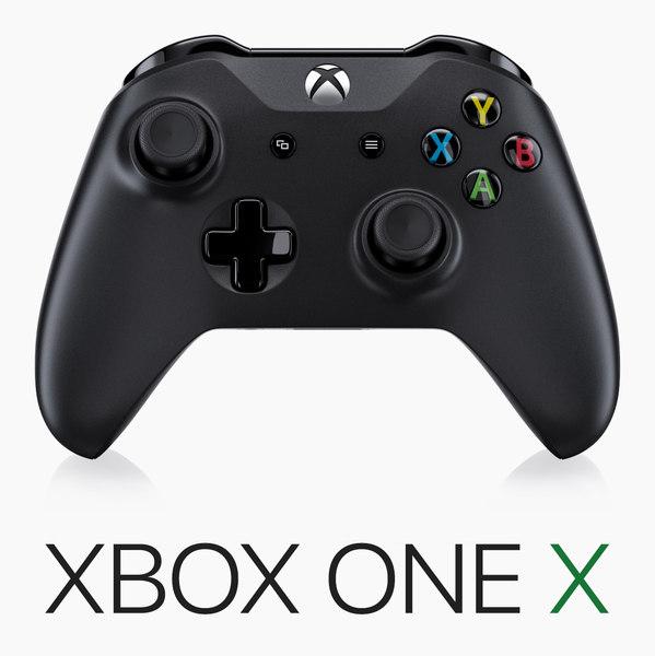 3D x-box x controller model