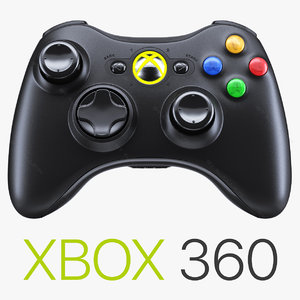 xbox 360 wireless controller 3d model
