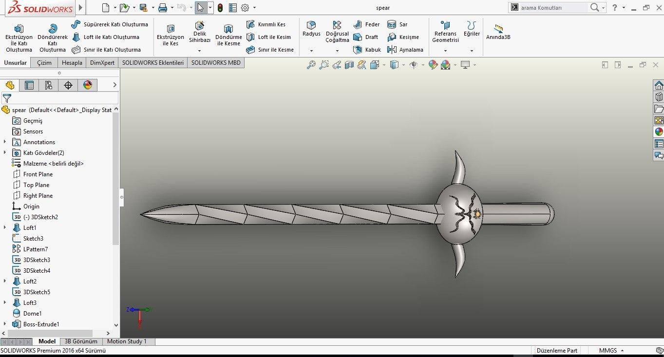 sword low-poly vr ar 3D