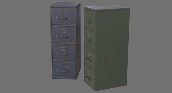 filing cabinet 1c 3D model
