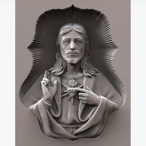 jesus christ cnc 3d model