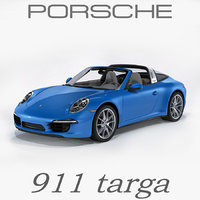 porsche 911 991 targa 3d model