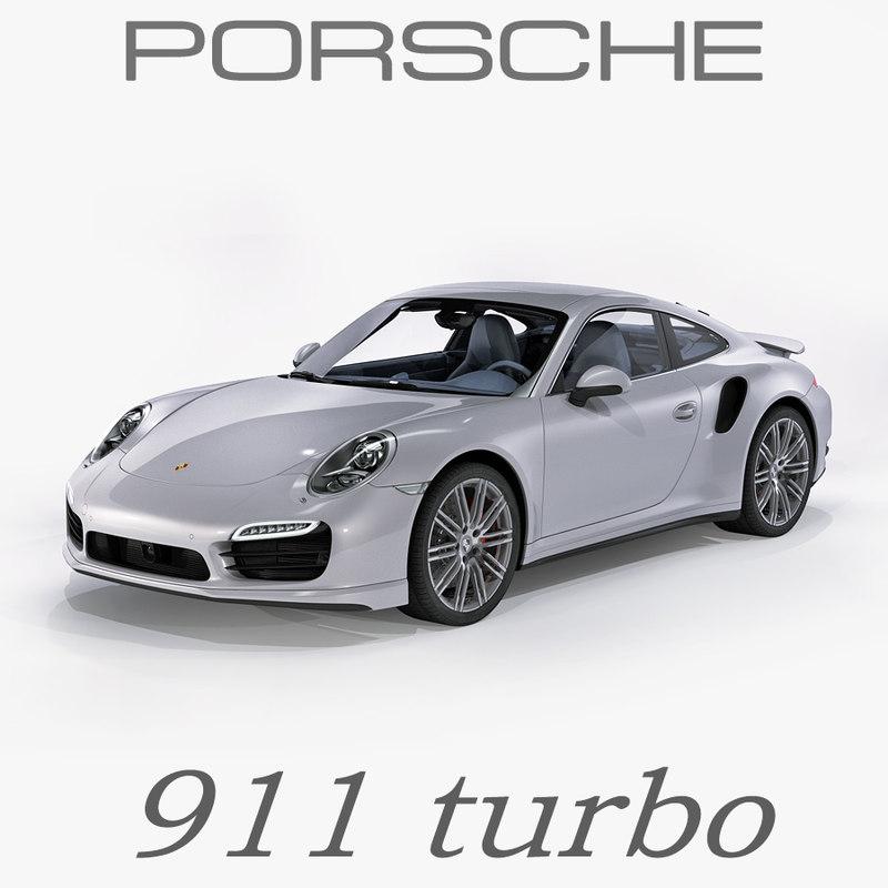 porsche 911 turbo 2014 3d model