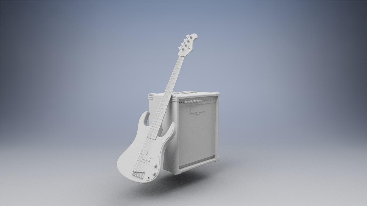 bass amplifier 3D model