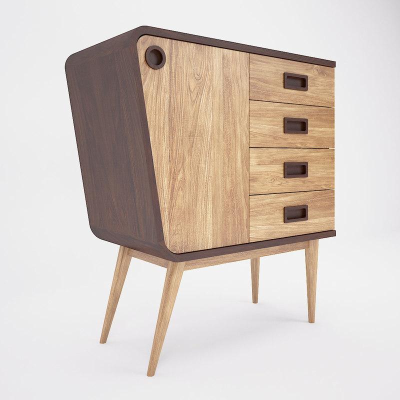3D retro cabinet model