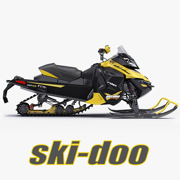 3d snowmobile ski-doo mx z model