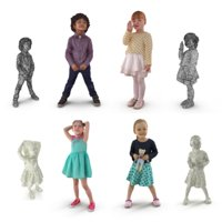 3D child scanned people model