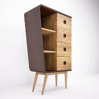 3D colonne cabinet retro