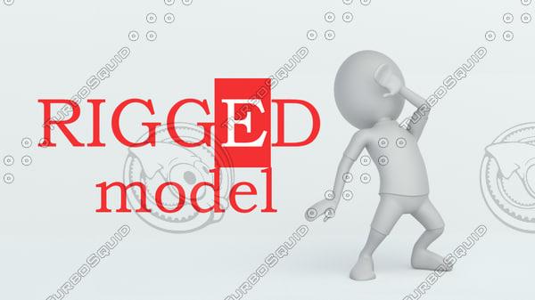 man white 3D model