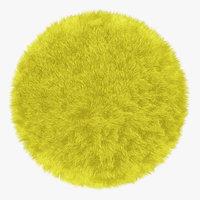 3D wool fur