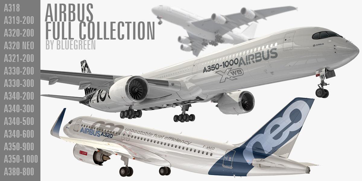airbus planes a318 3D model
