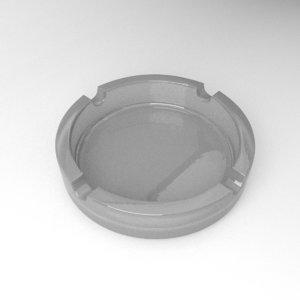 3D ashtray glass ash