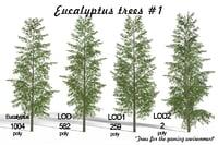 3D landscape trees model