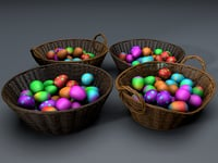 easter baskets 3D model