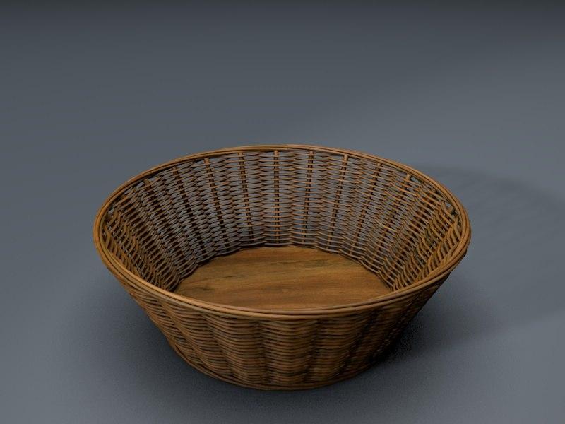 3D wicker baskets model