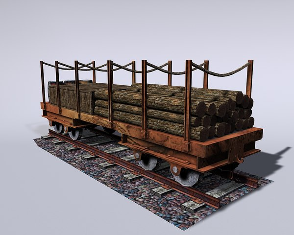 railway wagon 3D model