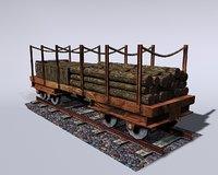 railway wagon 3D model