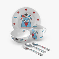 set children s tableware 3D model