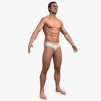 3D male anatomy